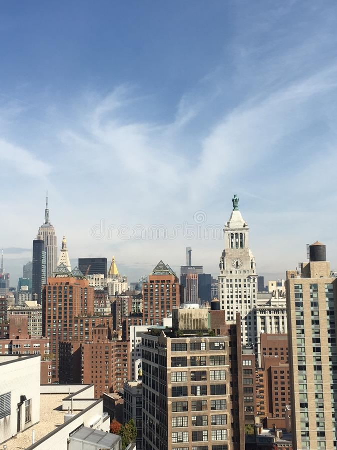 NYC panoramic view 40 floors high royalty free stock images