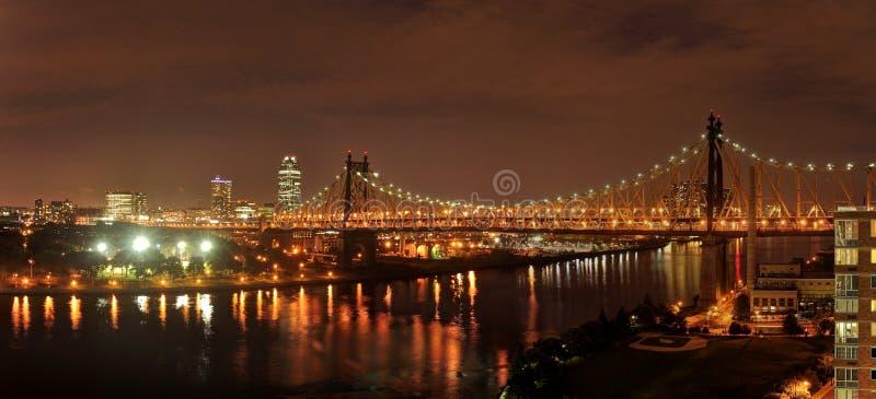 Nyc par nuit photographie stock