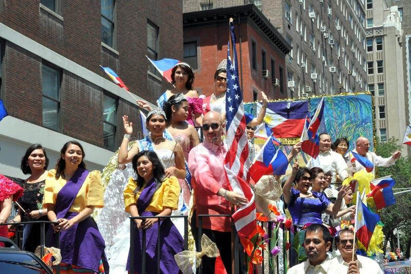 NYC: Parata di festa dell'indipendenza delle Filippine fotografia stock libera da diritti