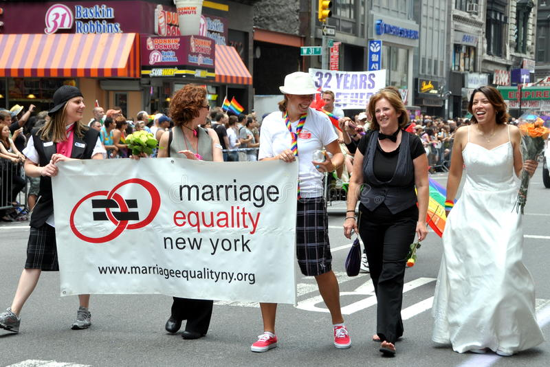NYC: Parata di orgoglio dei 2010 omosessuali immagine stock