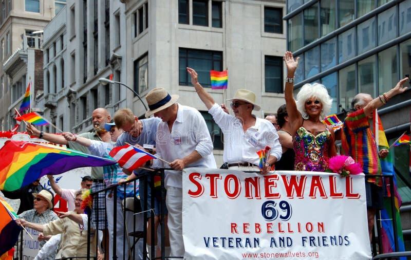 NYC: Parata gaia di orgoglio fotografie stock libere da diritti