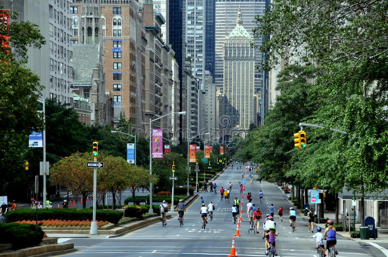 NYC: Park Avenue on Summer Streets Saturday royalty free stock image