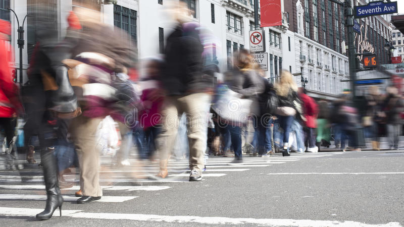 NYC Pedestrians. Pedestrians in New York City stock photos