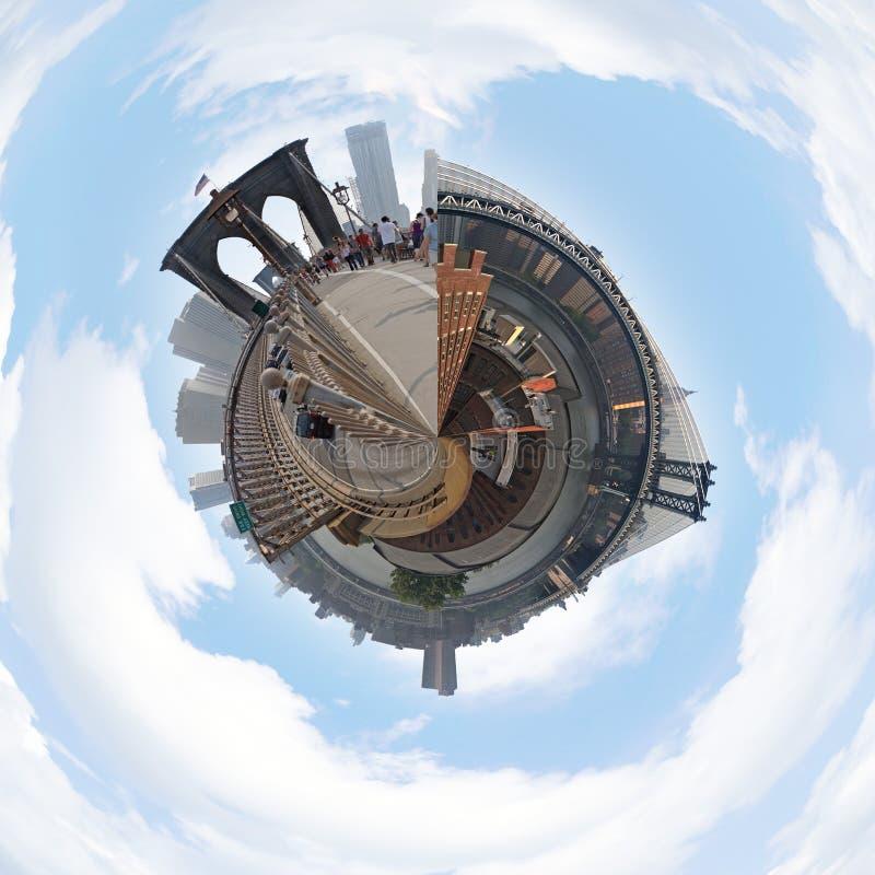 NYC Planet Panorama stock photos