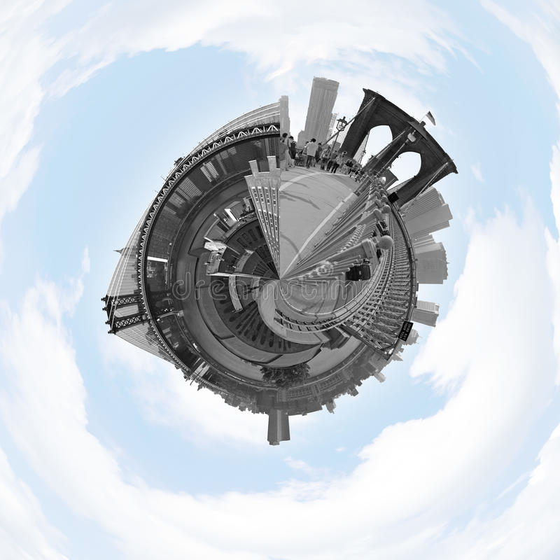 NYC Planet Panorama stock images