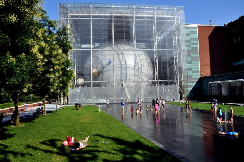 NYC: Planetarium de Hayden e terraço de Ross imagens de stock