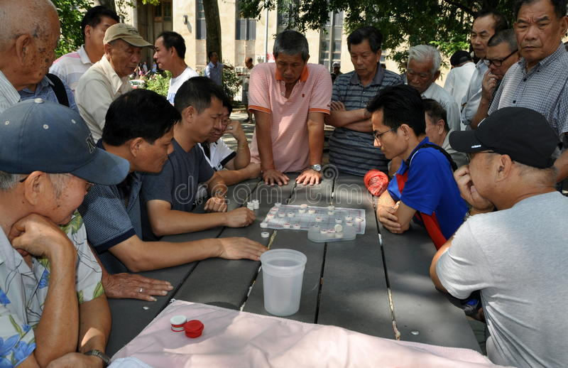 Download NYC: Playing Checkers In Chinatown Editorial Stock Photo - Image: 26416148