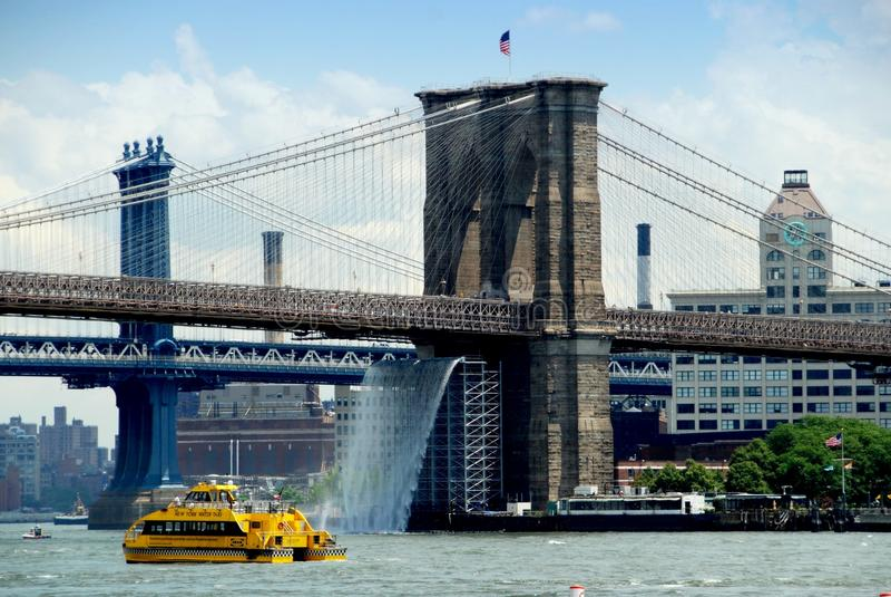 NYC: Ponte di Brooklyn fotografia stock