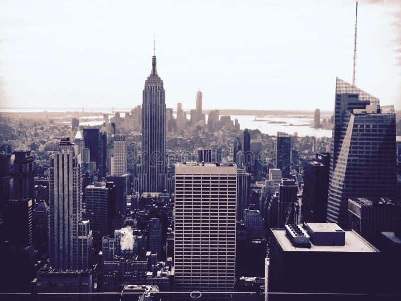 NYC preto & branco fotos de stock