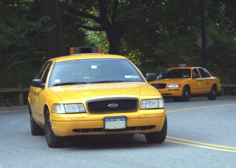 NYC Rollen-Fahrerhäuser lizenzfreies stockbild