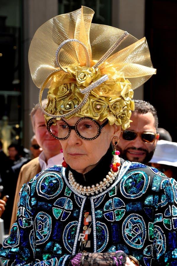 NYC :  Rouleau-arène légendaire au défilé de Pâques photographie stock libre de droits