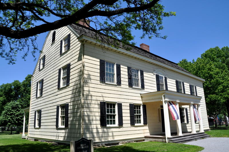 NYC: Rufus König 1750 Manor House Museum lizenzfreies stockfoto