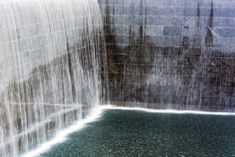 NYC ` s 9 11 pomnik przy world trade center punktem zerowym wybuchu zdjęcia royalty free