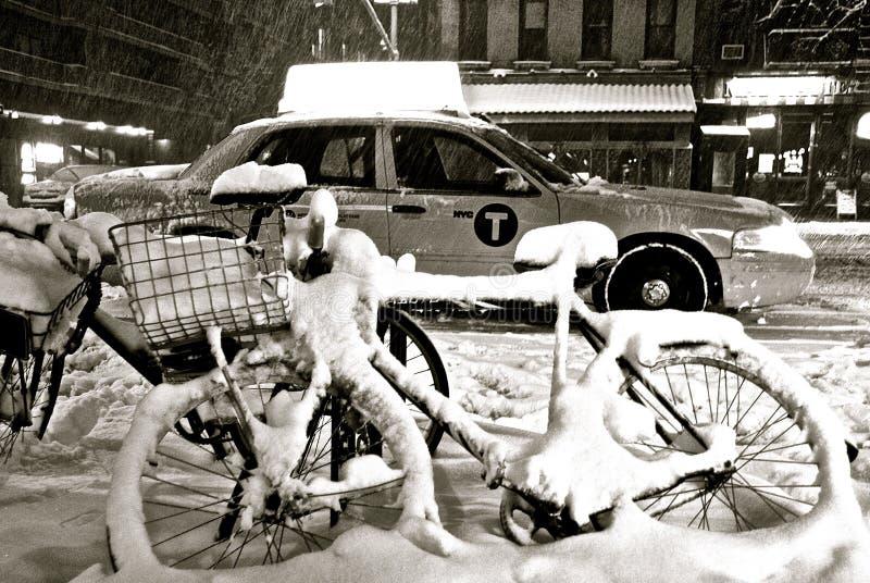 NYC-Schneesturm stockfoto
