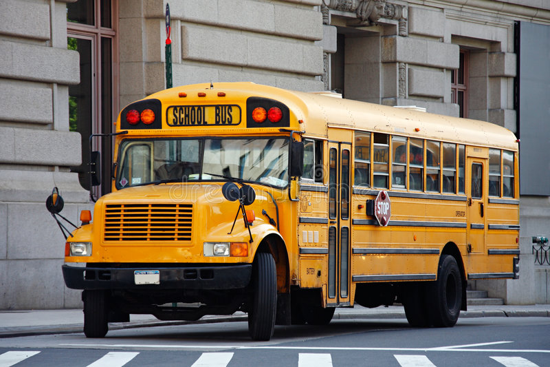 NYC schoolbus royalty-vrije stock foto's