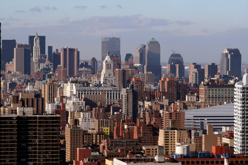 NYC Skyline lizenzfreies stockbild