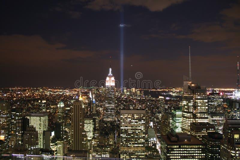 NYC Skyline stockfotos