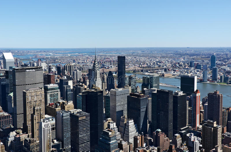 NYC skyline from the Empire State Building royalty free stock image