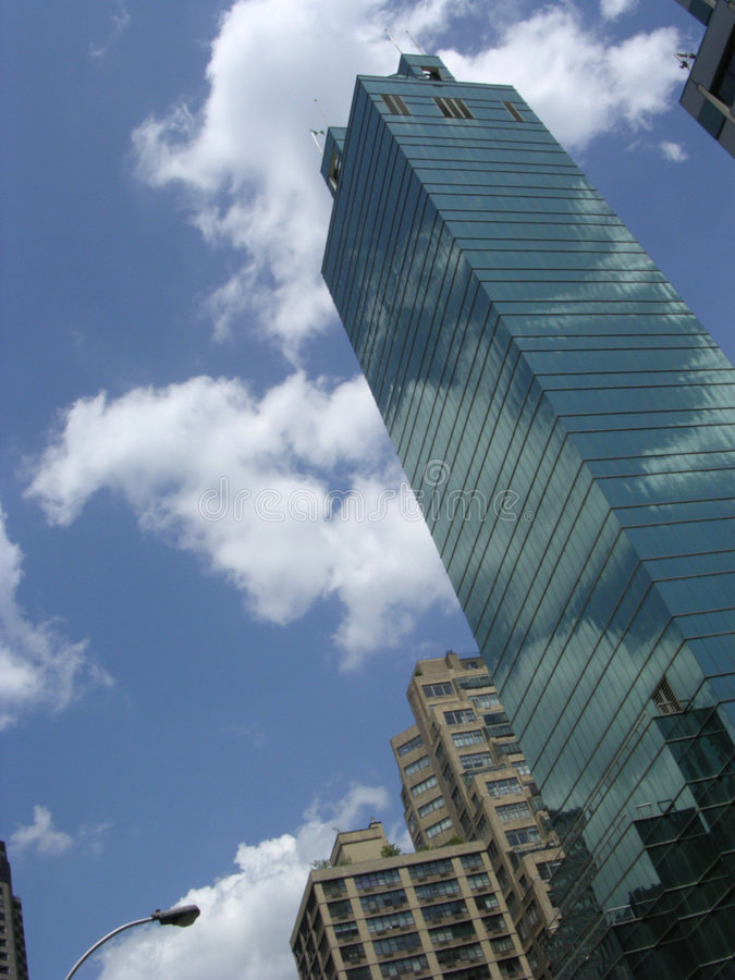 Download NYC Skyscraper stock image. Image of expensive, leaning - 451367