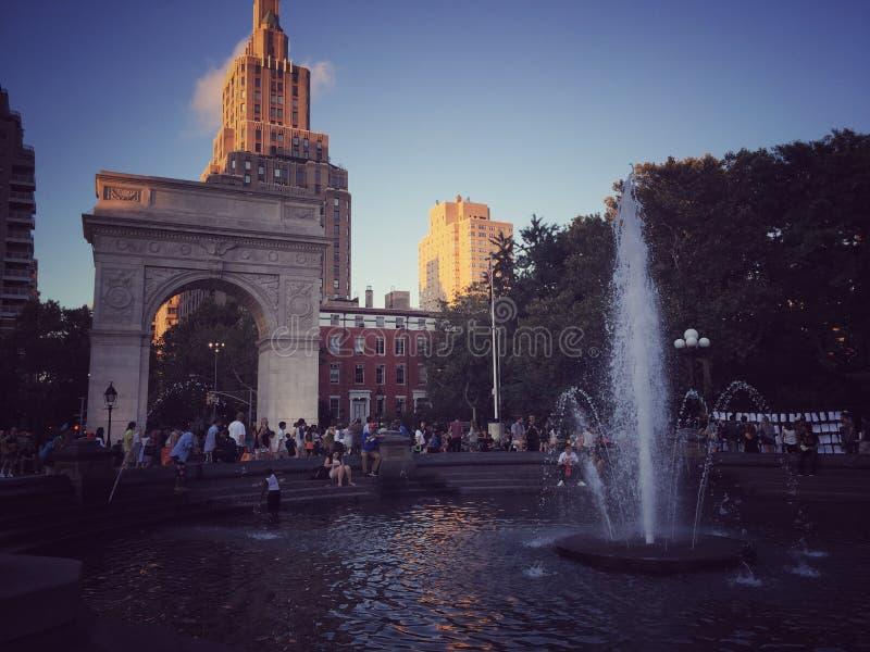 NYC-Sonnenuntergang am Park lizenzfreies stockbild
