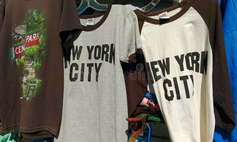 NYC Souvenirs, New York City Shirts, NYC, NY, USA royalty free stock image