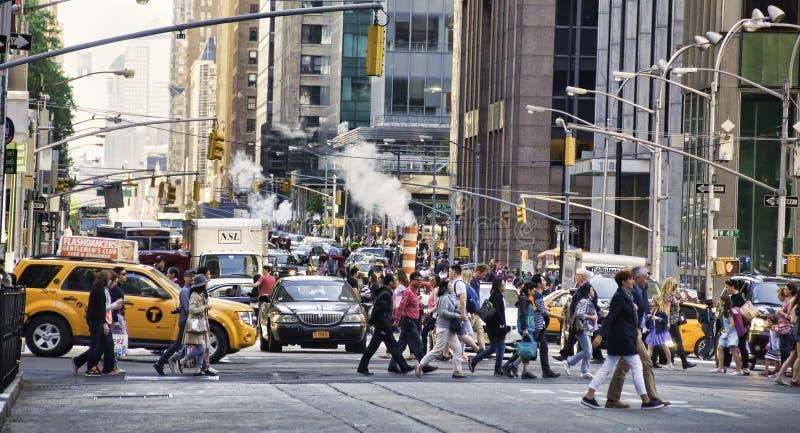NYC-Spitsuur royalty-vrije stock afbeeldingen