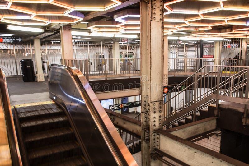 NYC stacja metru zdjęcia royalty free
