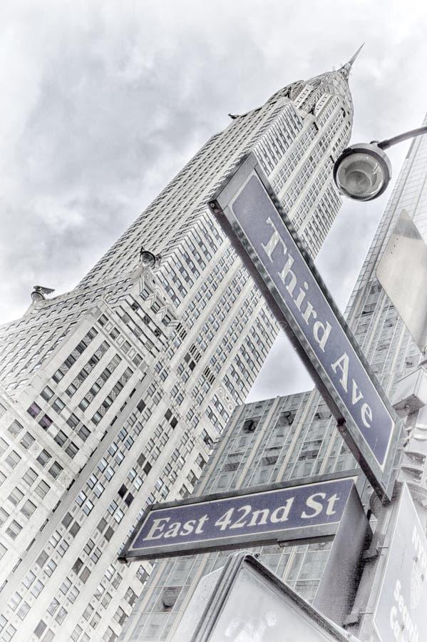 NYC Straßenschilder Dritte Allee, Ost42. Straße stockbilder