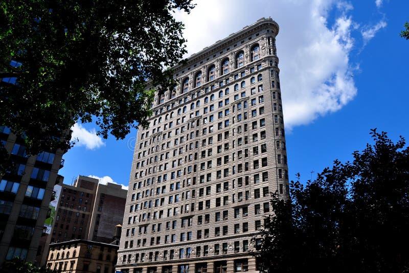 NYC:  Strykjärnbyggnaden arkivfoto