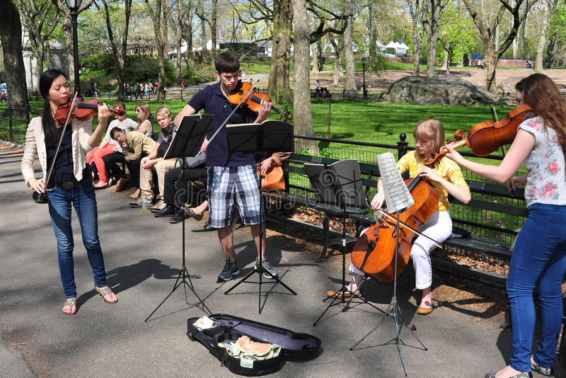 NYC: Student Musicians in Central Park royalty free stock photography