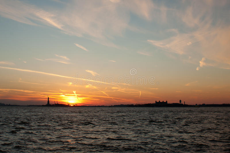 NYC: Sunset stock image