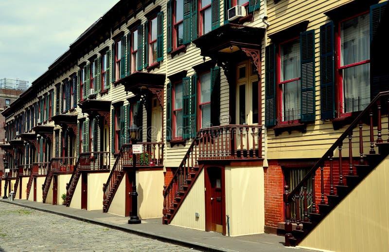 NYC: Sylvan Terrace Row Houses 1882 foto de archivo libre de regalías