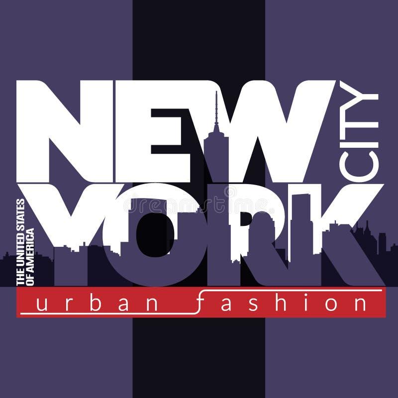 NYC-T-Shirt Skyline vektor abbildung