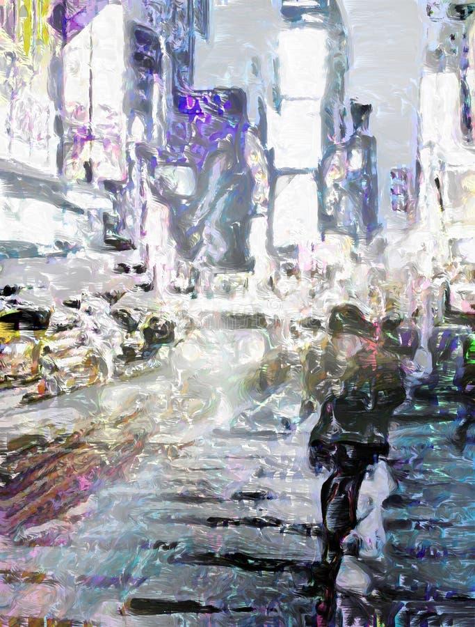 NYC tijdenVierkant stock illustratie