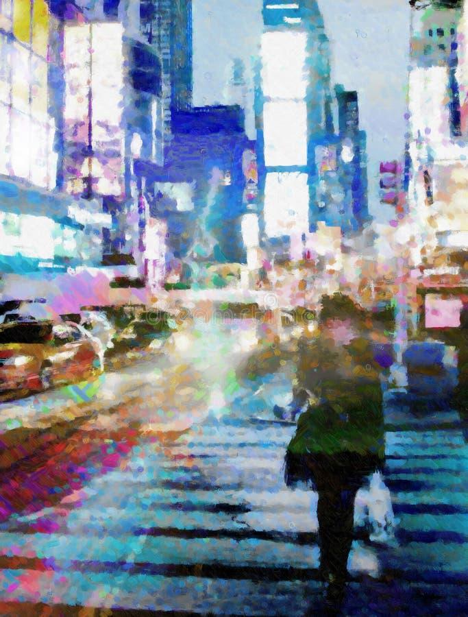NYC tijdenVierkant royalty-vrije illustratie