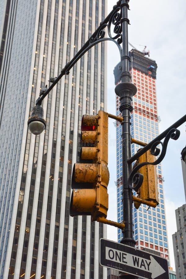 NYC-trafikljus royaltyfri bild