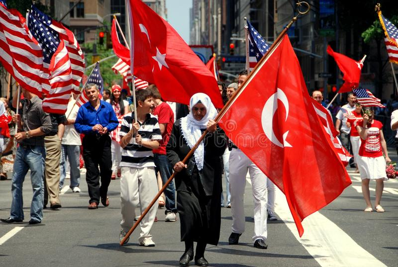 NYC: Turkish Day Parade royalty free stock photos