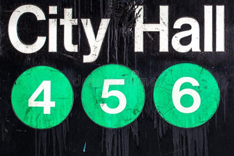 NYC-U-Bahn-Zeichen lizenzfreie stockbilder