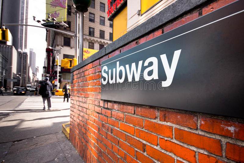 NYC Untergrundbahn stockbild