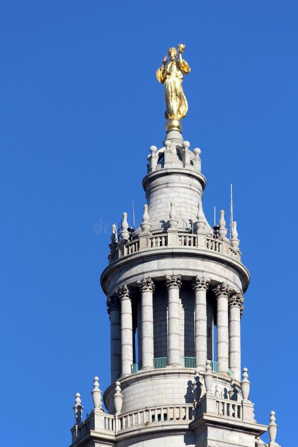 NYC urzędu miasta budynku Miejski szczegół, centrum miasta oper obraz royalty free