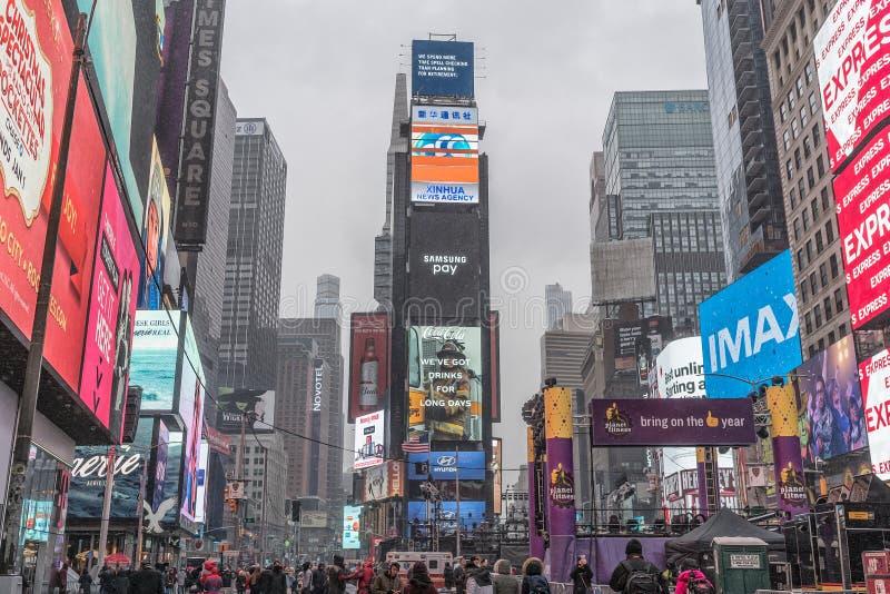 NYC/USA - 29个DEZ 2017年-著名纽约大道 方形时期 图库摄影