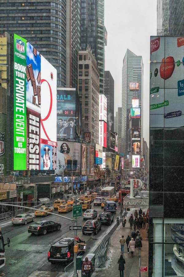 NYC/USA - 29个DEZ 2017年-著名纽约大道 方形时期 免版税库存照片