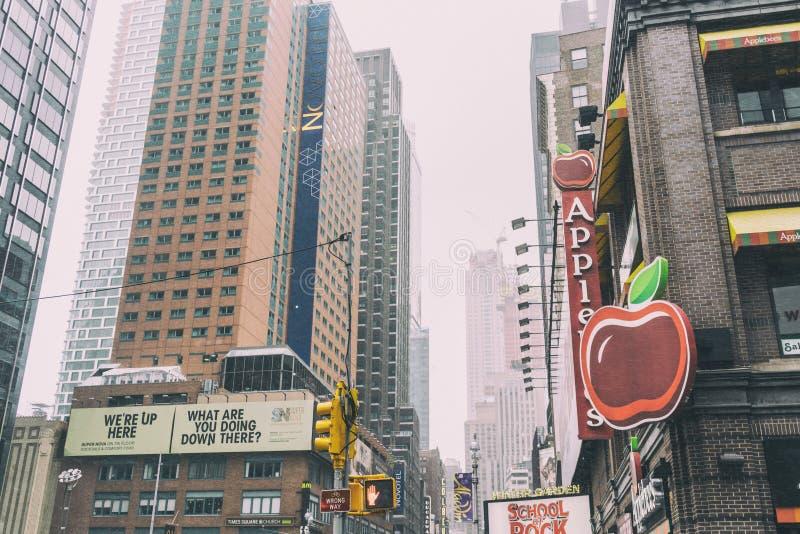 NYC/USA - 29个DEZ 2017年-著名纽约大道 方形时期 库存照片