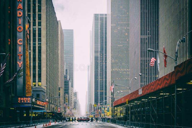 NYC/USA - 29个DEZ 2017年-著名纽约大道 方形时期 免版税图库摄影