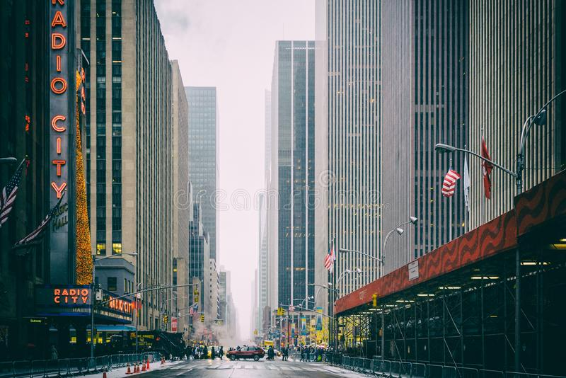 NYC/USA - 29 DEZ 2017 - famous new york avenue. Times square. royalty free stock photography