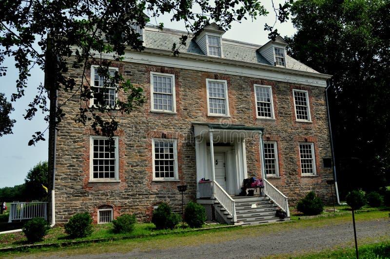 NYC: 1748 Van Cortlandt Manor House Museum stock fotografie