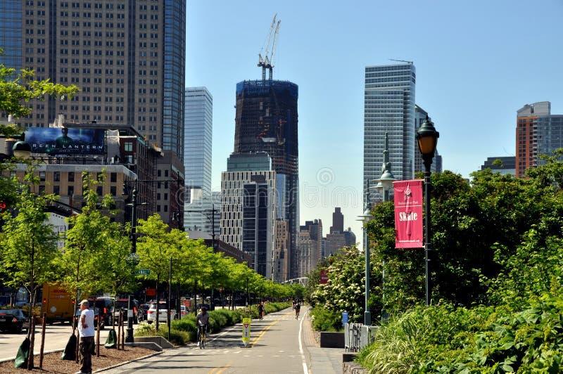 NYC: View To Ground Zero Skyline Editorial Stock Image