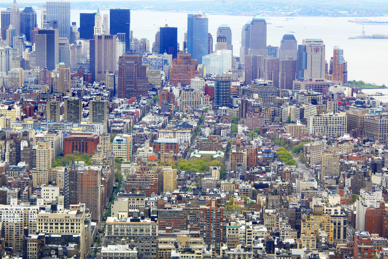NYC von der Augenansicht des Vogels lizenzfreie stockfotografie