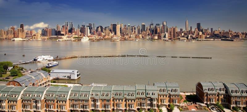 NYC von der Jersey-Seite stockfoto