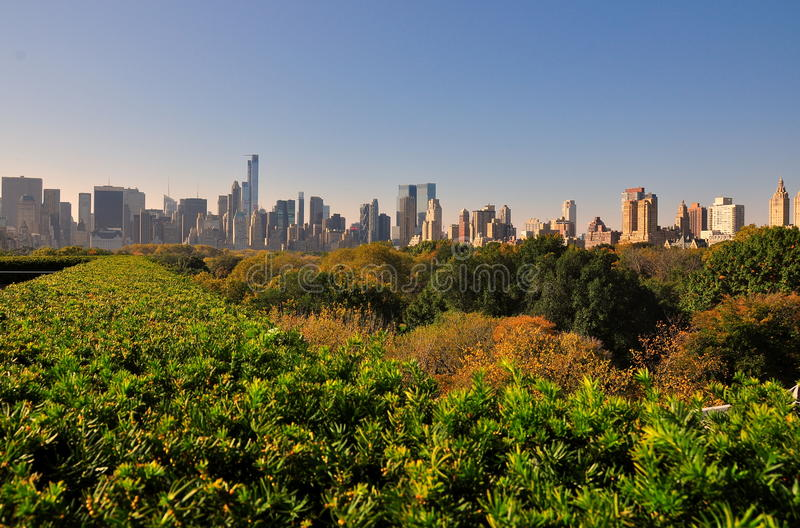 NYC : Vue d'horizon de Manhattan de Central Park photos stock